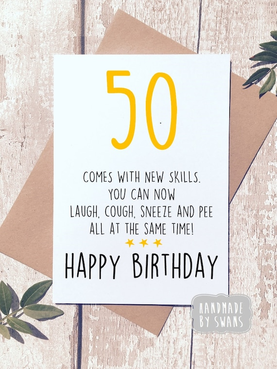 Funny 50th Birthday 50x Fiftieth Birthday Card Special Age Milestone Birthday Adulr Humour Rude Birthday