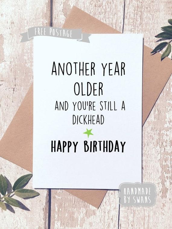 Funny Happy Birthday Card rude birthday card funny card ...