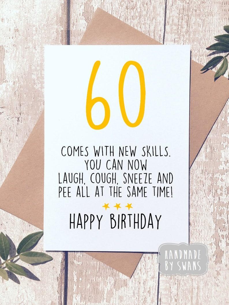 Funny 60th Birthday Card Sixty