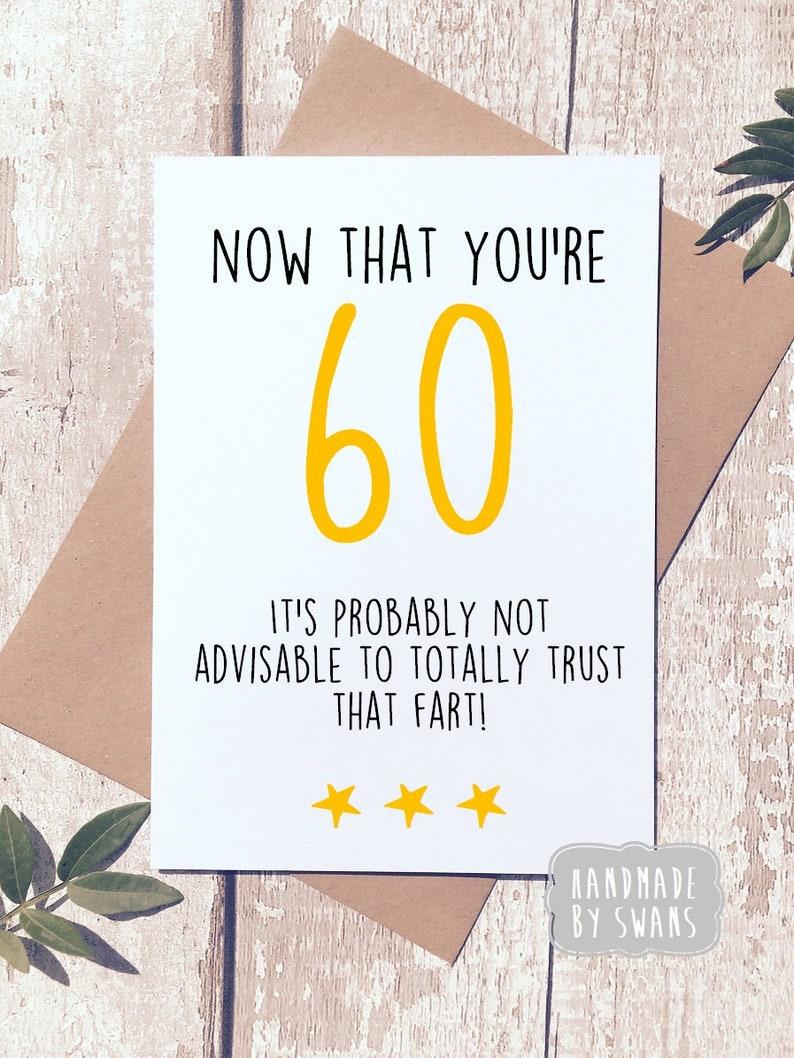 Funny 60th Birthday Card Sixtieth