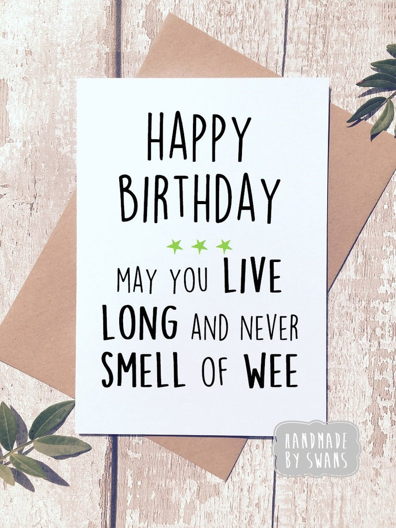 Funny Birthday Card Old Age Greeting Rude