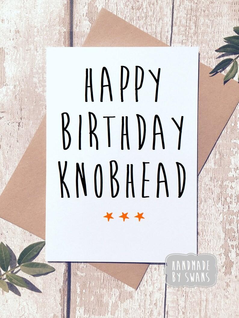 Rude Birthday Card Funny Swear For Him