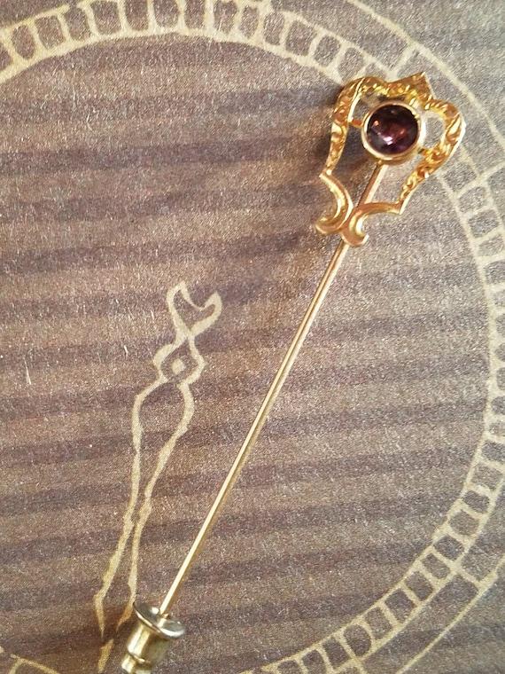 Amethyst Lapel Pin, Amethyst Brooch Pin, Amethyst… - image 6