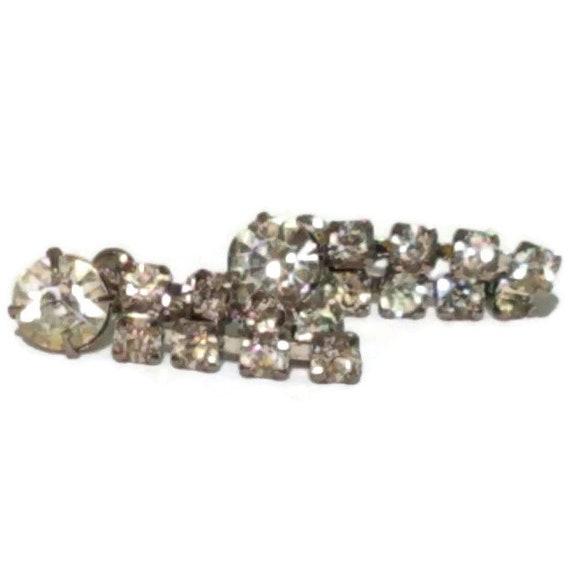 Clip On Earrings, Vintage Rhinestone Clip-on Earr… - image 4
