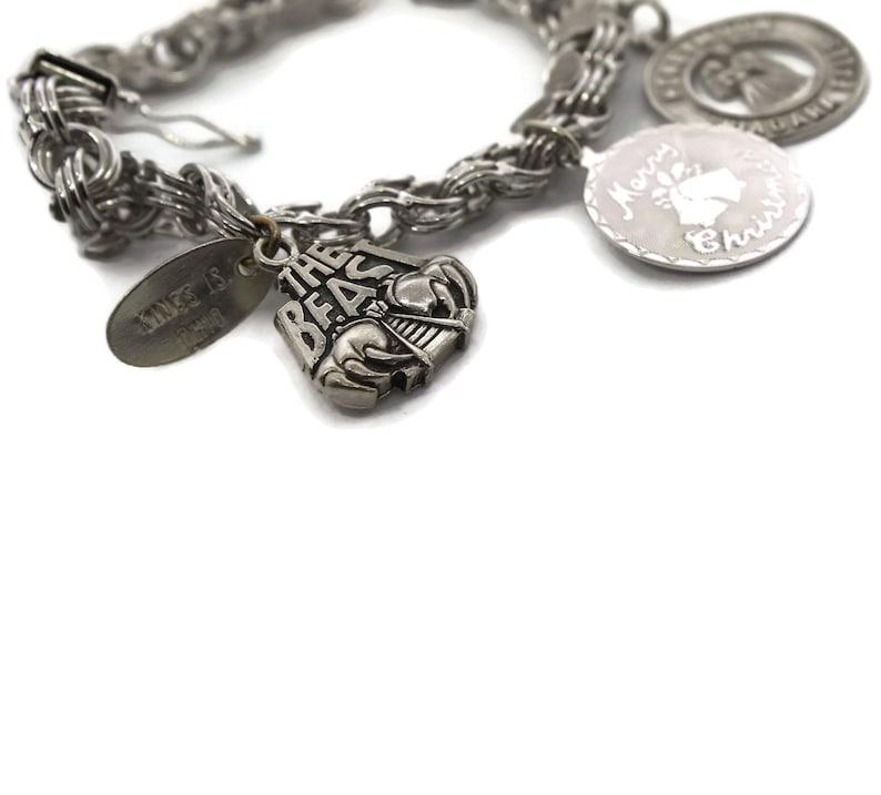 Original Niagara Falls Honeymoon Charm 1970/'s Vintage Sterling Silver Charm Bracelet