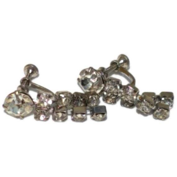 Clip On Earrings, Vintage Rhinestone Clip-on Earr… - image 6