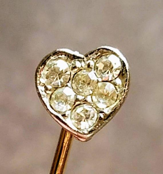 Heart Lapel Pin, Heart Brooch Pin, Heart Hat Pin,