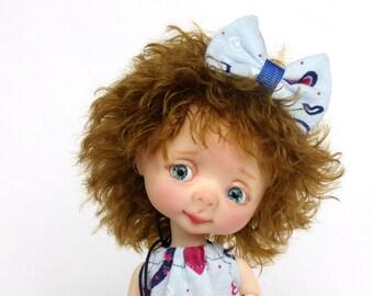 """Handmade Irrealdoll Wig /""""Redhead/"""" BJD Wig OOAK Irrealdoll Wig 6,5 inch wig"""