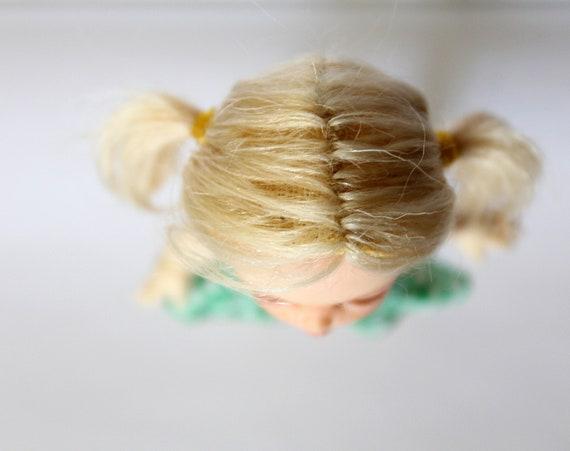 "Handmade Pukipuki wig /""Blond long tails/"" Lati White Wig Lati White SP Wig 4 inch"