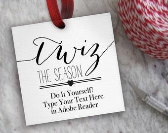 printable christmas tags editable merry christmas tag etsy
