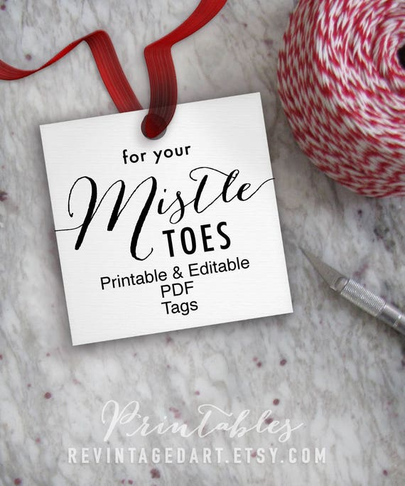 photo relating to For Your Mistletoes Printable named For Your Mistle Ft Tags // Printable Editable Xmas Tag // Mistletoes Tag Template // Do-it-yourself Electronic PDF // Sq. 2x2 Nail Manicure Tags