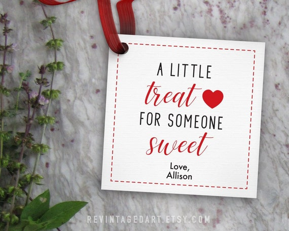 Printable A Little Treat for Someone Sweet Gift Tag