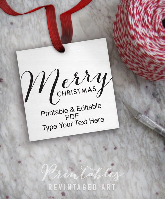 printable christmas tags editable merry christmas tag template