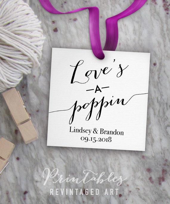 popcorn tags printable wedding gift tag template etsy