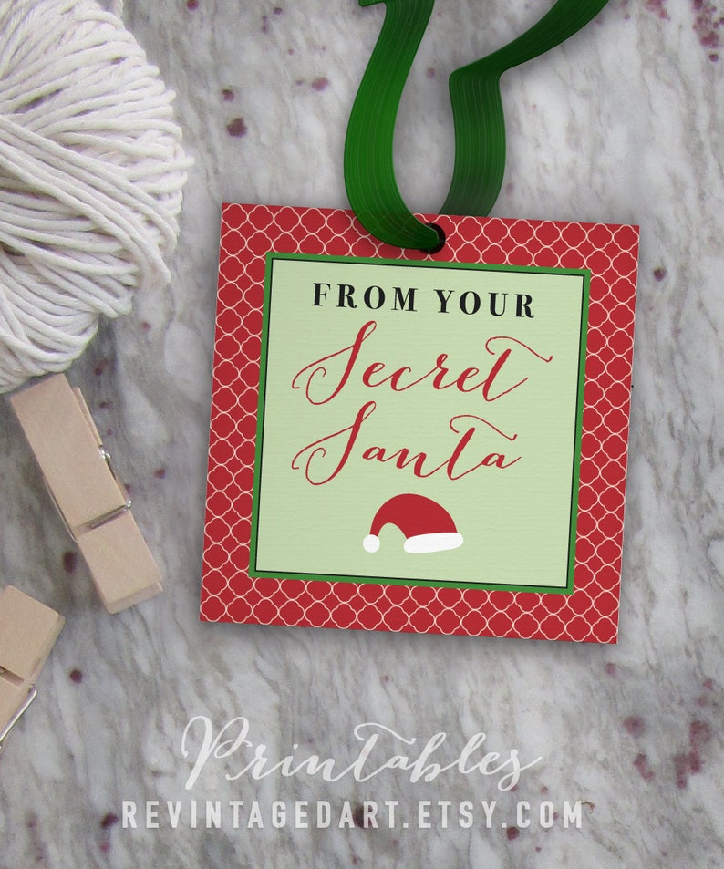 picture about Secret Santa Sign Up Sheet Printable named Magic formula Santa Tags, Printable Xmas Reward Tags for Hard work, Faculty, Close friends, Cl Items // Do it yourself Electronic PDF // 2\