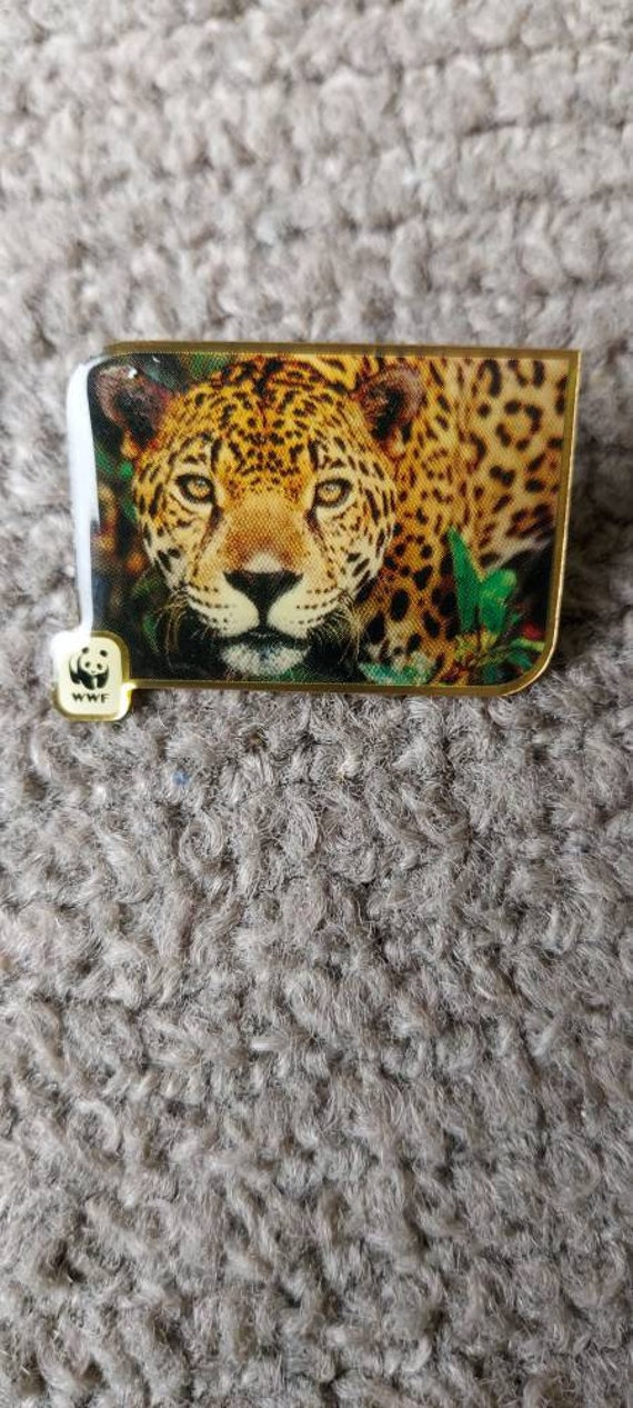 Cheetah vintage collectible hat pin, cheetah lapel
