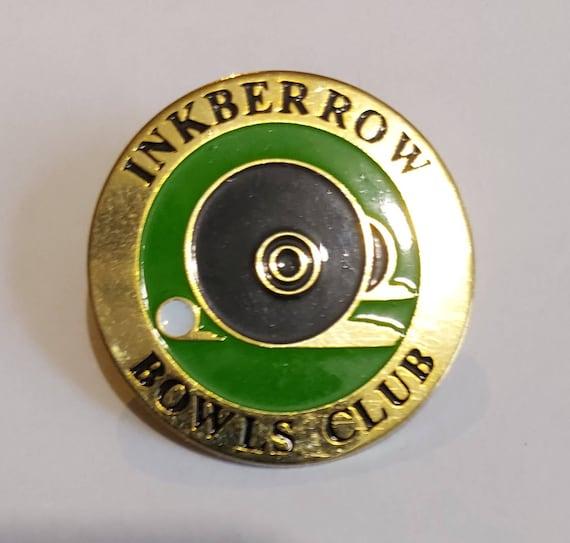 Nairns Bowling Club Badge Pin Indoors Vintage Emblem Enamel England