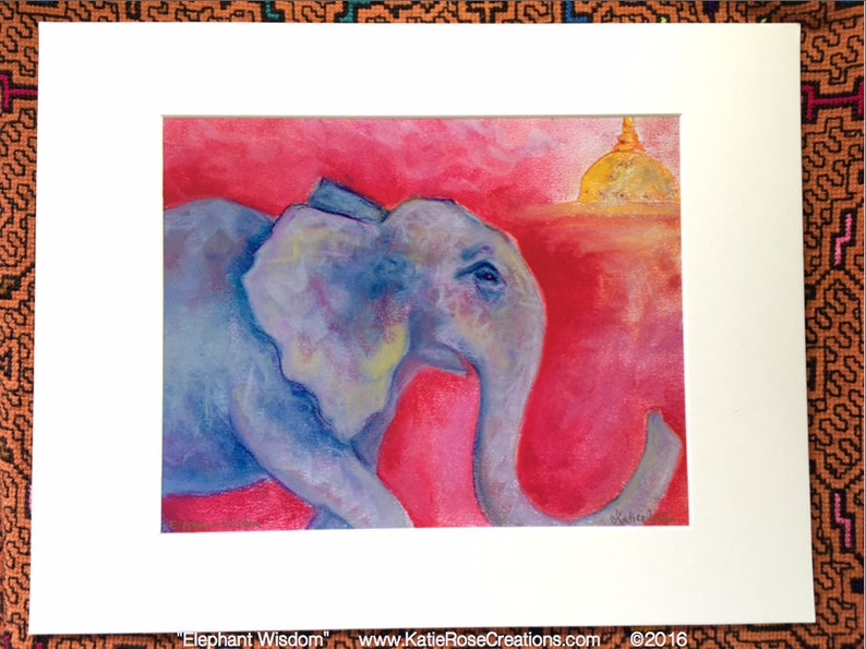 Elephant Wisdom  Matted and Signed Print image 0