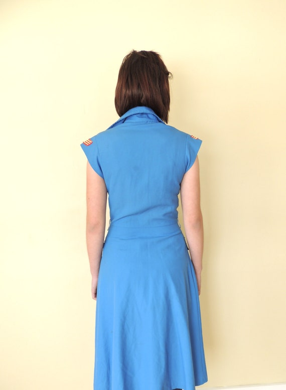 vintage 1970's U.S. military shirt dress fitted s… - image 4