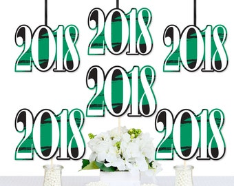 Green Grad - Best is Yet to Come - DIY 2018 Graduation Die-Cut Party Essentials - Green Grad Party - Graduation Party Supplies - 20 Ct.