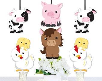 farm animal cutouts etsy