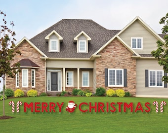 merry christmas yard sign outdoor christmas decorations holiday lawn decor merry christmas yard art holiday yard sign decorations