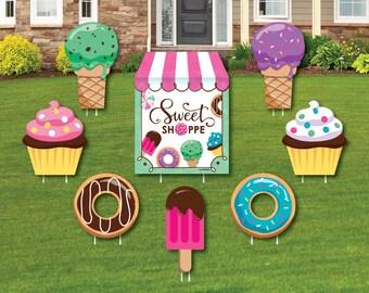 Ice Cream Sundae Birthday Graphic Yard Lawn Greeting Sign