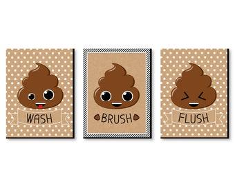 Emoji Bathroom Decor Etsy