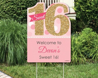 Party Yard Signs Etsy