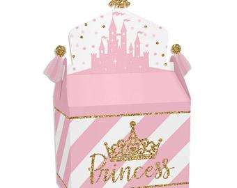 Princess Party Little Fairy Tale Kids Birthday Party Favor Pails Treat Boxes