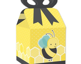 JANOU Bumble Bee Candy Boxes DIY Gift Beehive Sweet Boxes for Baby Shower Birthday Party Favors Pack 50pcs