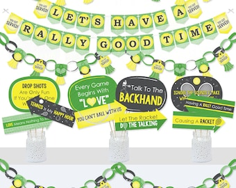 You Got Served Baby Shower or Tennis Ball Birthday Party Centerpiece Sticks Table Toppers Tennis Set of 15