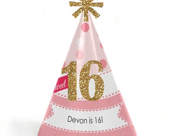 Sweet 16 Birthday Party Hats