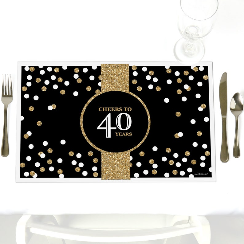 40th Birthday Party Table Decorations Adult
