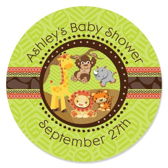 Fun Safari Jungle 16 Count Baby Shower Game Bingo Cards Big Dot of Happiness Funfari
