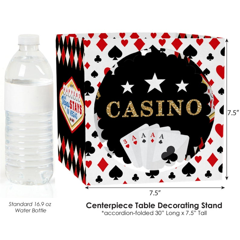 Remarkable Las Vegas Casino Party Centerpiece Table Decoration Kit Poker Night Party Decorations Prom Party Decor High Roller 39 Pc Set Interior Design Ideas Helimdqseriescom