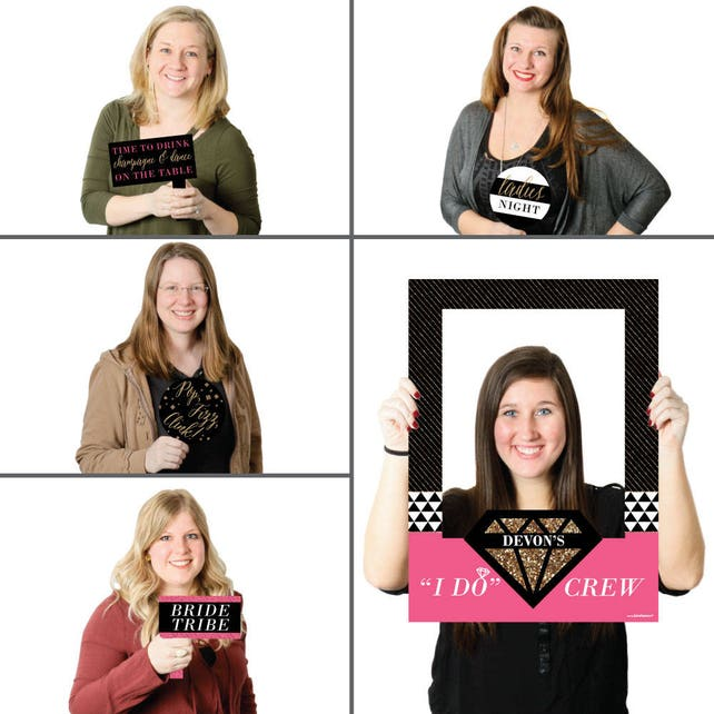 Girls Night Out Personalized Bachelorette Party Selfie Photo Booth