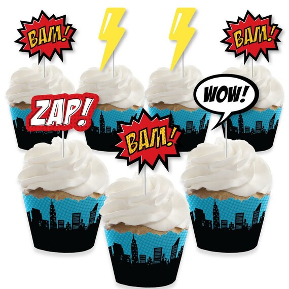 Fire Heroes Paper Firefighter Party Cupcake Wrappers 24 Pack