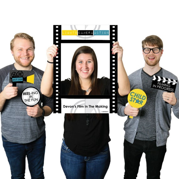 movie custom hollywood party selfie photo booth picture frame