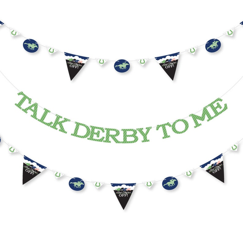 Kentucky Horse Derby 36 Banner Cutouts and Talk Derby To Me Banner Letters Horse Race Party Letter Banner Decoration