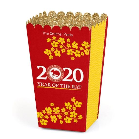 Popcorn Festival 2020.Chinese New Year Popcorn Boxes 12 Pack Movie Theatre