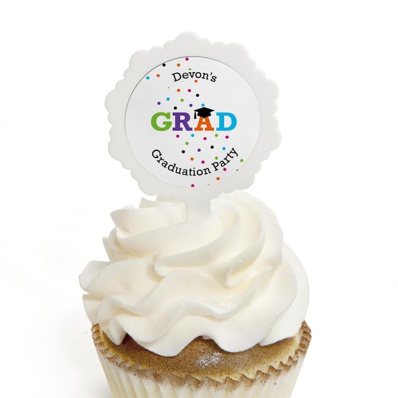Graduation Cupcake Picks Graduation Party Cupcake Decorations Hats Off Grad Cupcake Picks Youth Graduation Treats 12 Pc