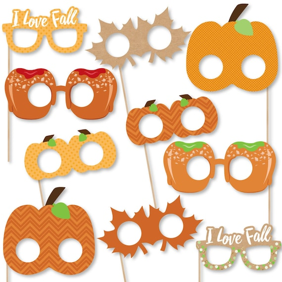 Pumpkin Patch Photo Booth Accessories Fun Selfie Fall Etsy