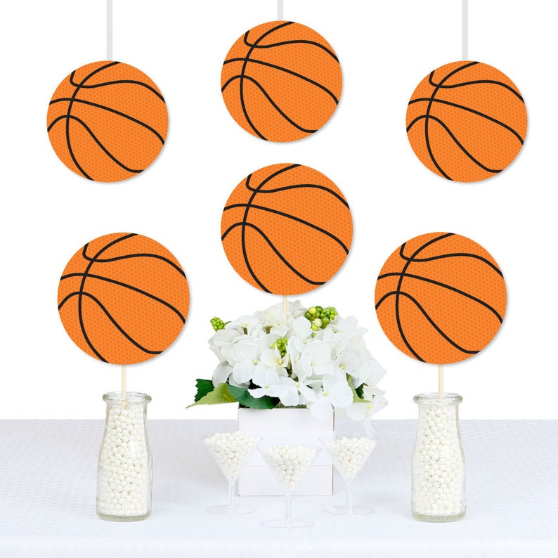 Welcome Baby Big Dot of Happiness Nothin But Net Sports Party Decorations Baby Shower Bunting Banner Basketball