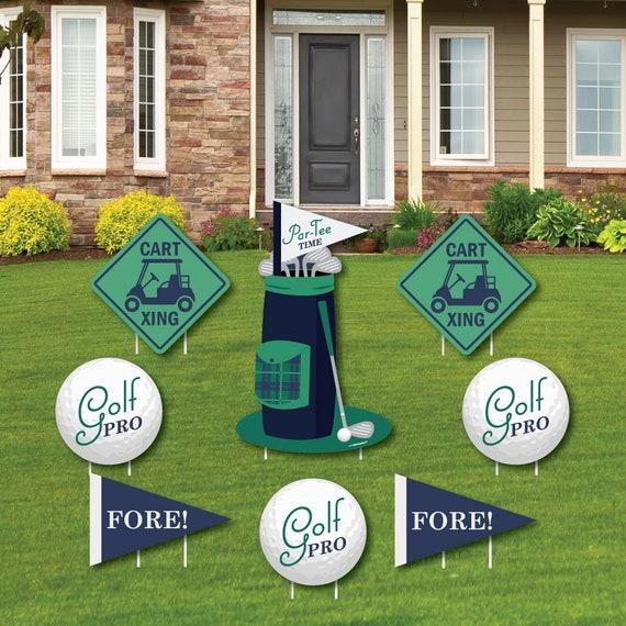 Golf Shaped Lawn Decorations Birthday, Golf Outdoor Decor