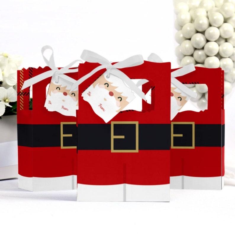Set of 12 Jolly Santa Claus Christmas Party Gift Bag
