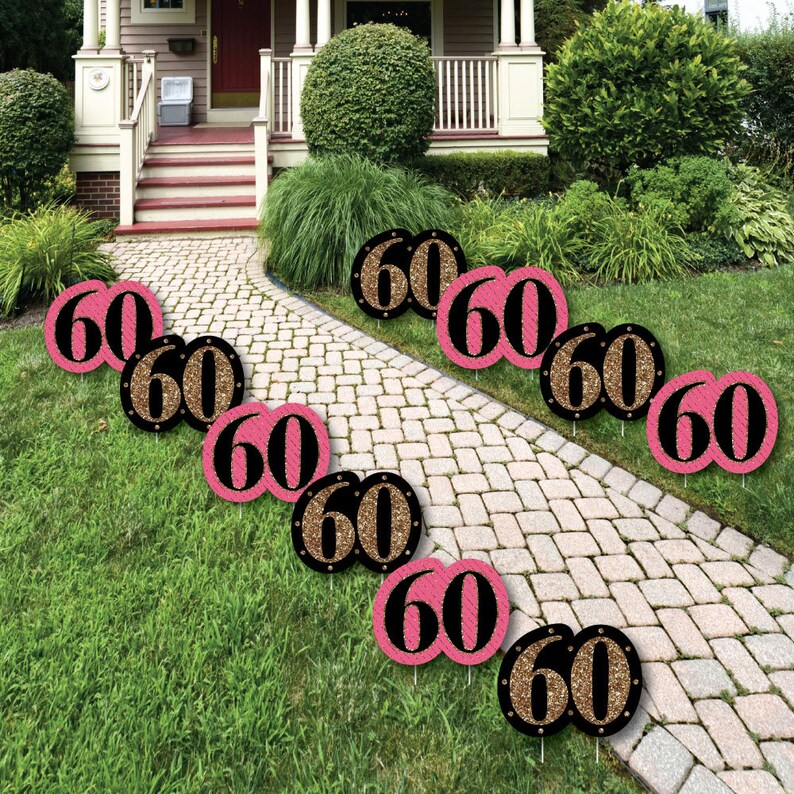 60th Birthday Lawn Decorations Outdoor Party