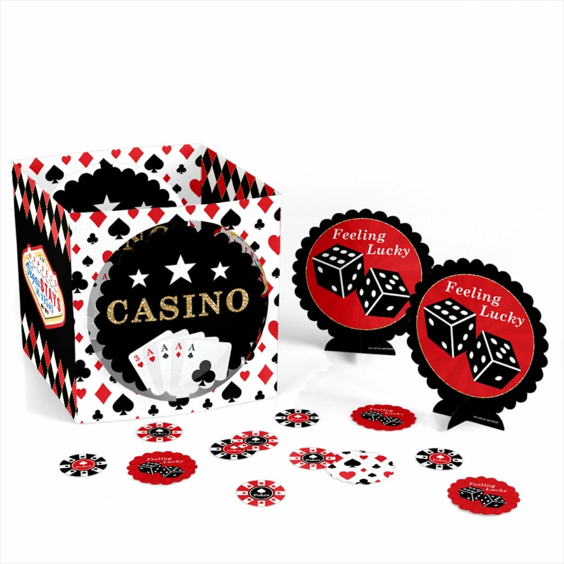 Magnificent Las Vegas Casino Party Centerpiece Table Decoration Kit Poker Night Party Decorations Prom Party Decor High Roller 39 Pc Set Interior Design Ideas Helimdqseriescom