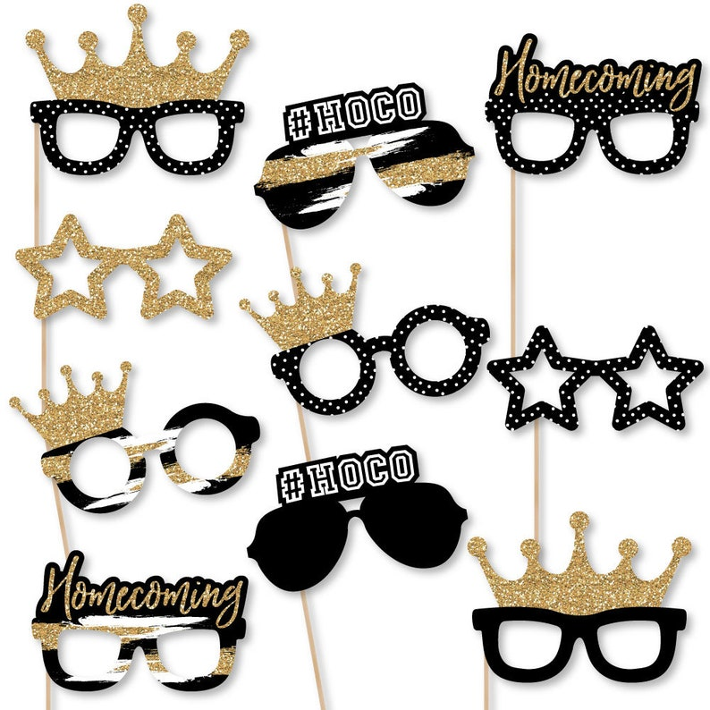 Funny Rosh Hashanah Jewish New Year Photo Booth Props Kit 10 Piece
