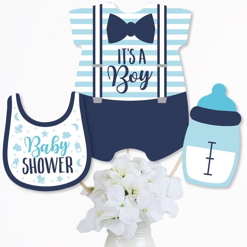 It\u2019s a Boy Set of 15 Blue Baby Shower Centerpiece Sticks Table Toppers